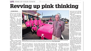courrier Revved up pink thinking